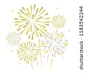 gold and bright firework on... | Shutterstock .eps vector #1183542244