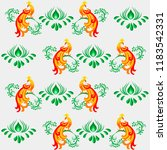seamless floral pattern in... | Shutterstock .eps vector #1183542331