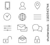 icons for web site | Shutterstock .eps vector #1183543744