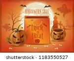 halloween sale poster design.... | Shutterstock .eps vector #1183550527