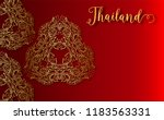 thailand ancient luxury concept.... | Shutterstock .eps vector #1183563331