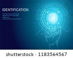 identification personal... | Shutterstock .eps vector #1183564567