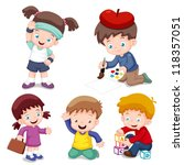 illustration of characters kids ... | Shutterstock .eps vector #118357051