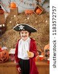 smiling adorable little kid... | Shutterstock . vector #1183572757