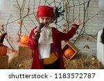 talented boy in pirate costume...   Shutterstock . vector #1183572787