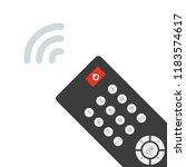 remote control. tv remote... | Shutterstock .eps vector #1183574617