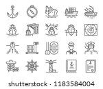 marine port icon set. included...