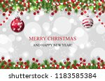 christmas background  new year... | Shutterstock .eps vector #1183585384