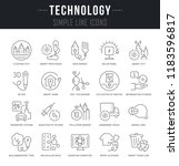 set of linear icons of... | Shutterstock .eps vector #1183596817