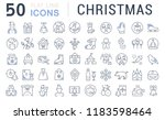 set of vector line icons of... | Shutterstock .eps vector #1183598464