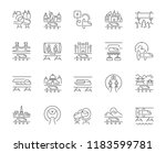 set of vector line icons of... | Shutterstock .eps vector #1183599781