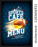 sports cafe menu card design... | Shutterstock .eps vector #1183606921