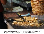 professional chef makes... | Shutterstock . vector #1183613944