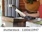 professional chef makes... | Shutterstock . vector #1183613947
