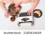 writer used old fashioned... | Shutterstock . vector #1183614634