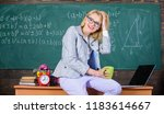 working conditions for teachers.... | Shutterstock . vector #1183614667