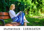 lady freelancer working in park.... | Shutterstock . vector #1183616524