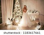 beautiful blonde woman in a... | Shutterstock . vector #1183617661