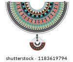 vector design for collar shirts.... | Shutterstock .eps vector #1183619794
