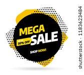 sale banner template design ... | Shutterstock .eps vector #1183623484