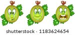 berry. gooseberry. fruit food... | Shutterstock .eps vector #1183624654