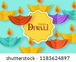 diwali hindu festival banner... | Shutterstock .eps vector #1183624897