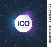 ico  initial coin offering... | Shutterstock .eps vector #1183629421
