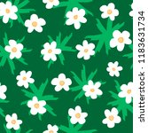 floral seamless pattern drawn... | Shutterstock .eps vector #1183631734
