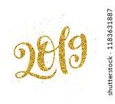happy new 2019 year. vector... | Shutterstock .eps vector #1183631887