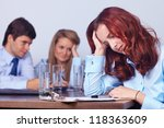 tired unhappy young attractive... | Shutterstock . vector #118363609