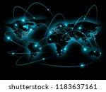 physical world map illustration.... | Shutterstock . vector #1183637161