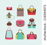 collection of woman bags for... | Shutterstock .eps vector #118364071