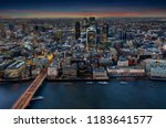 view to the illuminated city of ... | Shutterstock . vector #1183641577