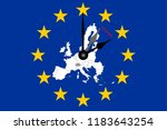 europe clock change european... | Shutterstock .eps vector #1183643254