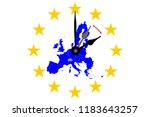 europe clock change map of... | Shutterstock .eps vector #1183643257