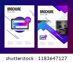 vector brochure template with... | Shutterstock .eps vector #1183647127