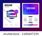 vector brochure template with... | Shutterstock .eps vector #1183647154