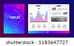vector brochure template with... | Shutterstock .eps vector #1183647727