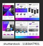 vector brochure template with... | Shutterstock .eps vector #1183647901