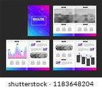 vector brochure template with... | Shutterstock .eps vector #1183648204