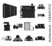 textile industry black icons in ...   Shutterstock .eps vector #1183651921