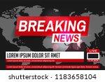 breaking news. world news....   Shutterstock .eps vector #1183658104