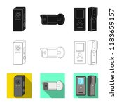 vector design of cctv and...   Shutterstock .eps vector #1183659157