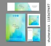 set of  brochure and banner...   Shutterstock .eps vector #1183659697