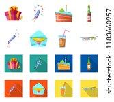 vector illustration of party... | Shutterstock .eps vector #1183660957
