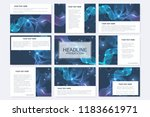 big set of vector templates for ... | Shutterstock .eps vector #1183661971