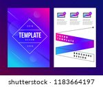 vector brochure template with... | Shutterstock .eps vector #1183664197