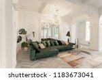 interior in hotel. daylight in... | Shutterstock . vector #1183673041