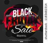 vector black friday sale banner ... | Shutterstock .eps vector #1183682314
