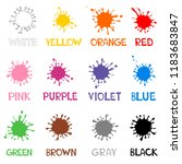 color guide whit color name.... | Shutterstock .eps vector #1183683847